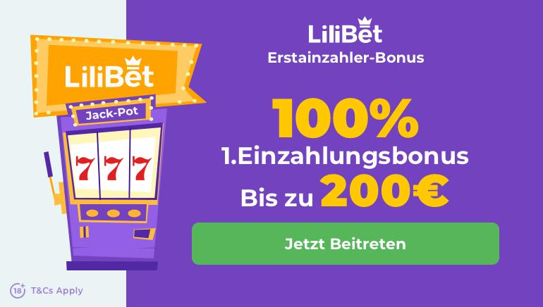 Lilibet Casino bietet €200 Willkommensbonus für neue Spieler