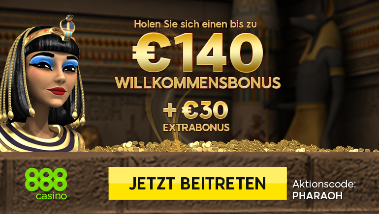 $230 Bonusguthaben + progressiver Jackpot im 888 Casino