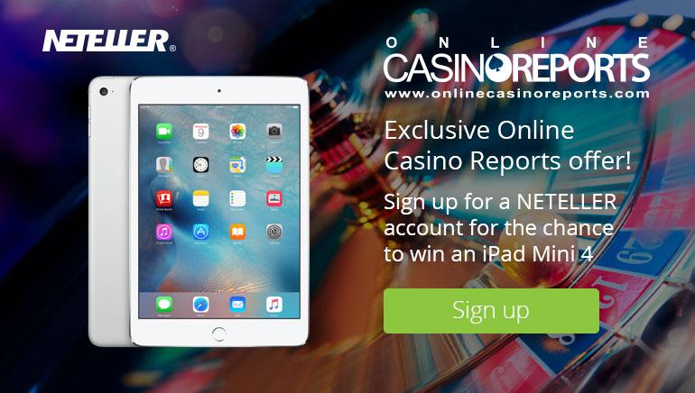 Gewinnen Sie ein iPad Mini 4 mit NETELLER und Online Casino Reports