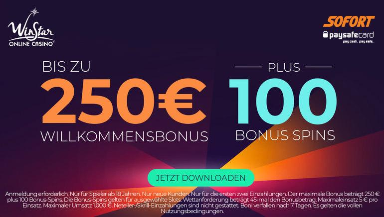 Deutsche Spieler können jetzt mit Sofort und PaySafeCard im WinStar Casino einzahlen