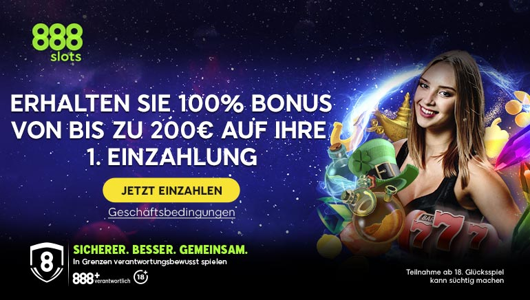 Alles über den 888slots Germany 200 € Willkommensbonus