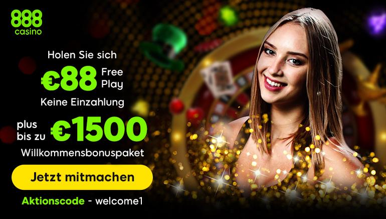 888 Casino Bonus bietet deutschen Spielern guten Grund zum Jubeln