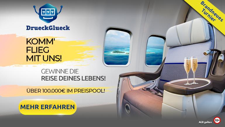 Gewinnen Sie die Reise Ihres Lebens mit dem DrueckGlueck Casino + jede Menge anderer Preise