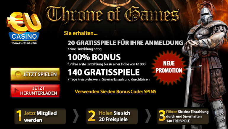 Throne of Games –  als Online Slot Angebot in aller Munde
