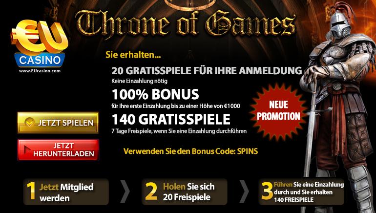 Throne of Games –  als Online Slot Angebot in aller Munde
