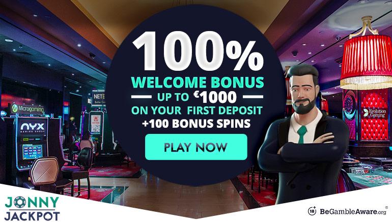 Schnappen Sie sich den 1000 € Willkommensbonus im Jonny Jackpot