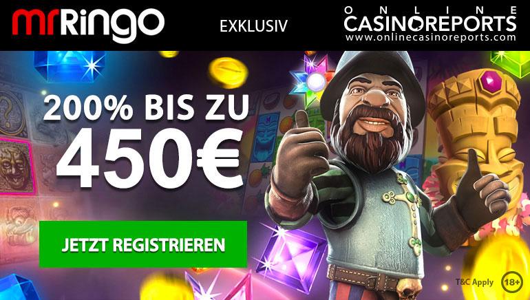 Erhalten Sie einen exklusiven 200% Willkommensbonus im Mr Ringo Casino