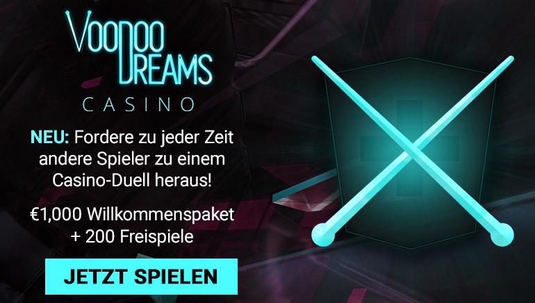 Beanspruchen Sie einen Bargeldbonus und Freispiele im Voodoo Dreams Casino