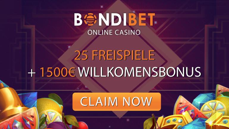 Spielen Sie groß mit BondiBet 200% Willkommensbonus + 25 Freispielen