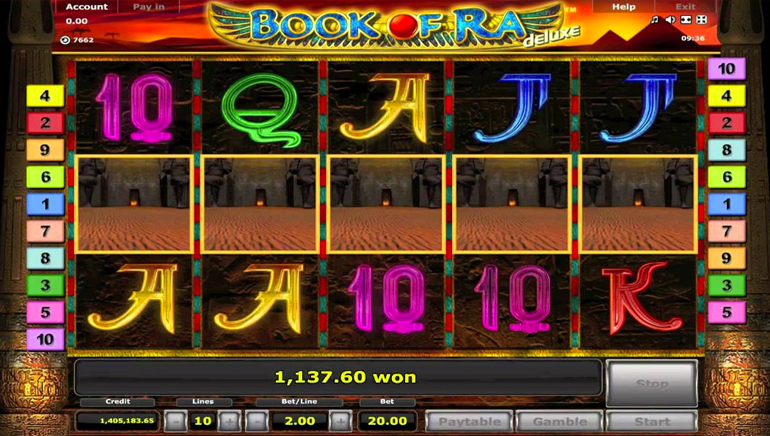 play online casino book of ra casino online