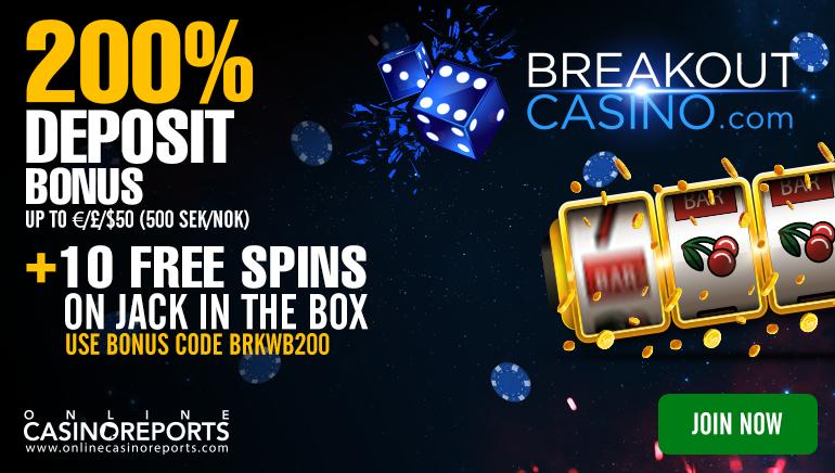 Brechen Sie das Eis mit 10 Freispielen im Breakout Casino: Keine Einzahlung erforderlich