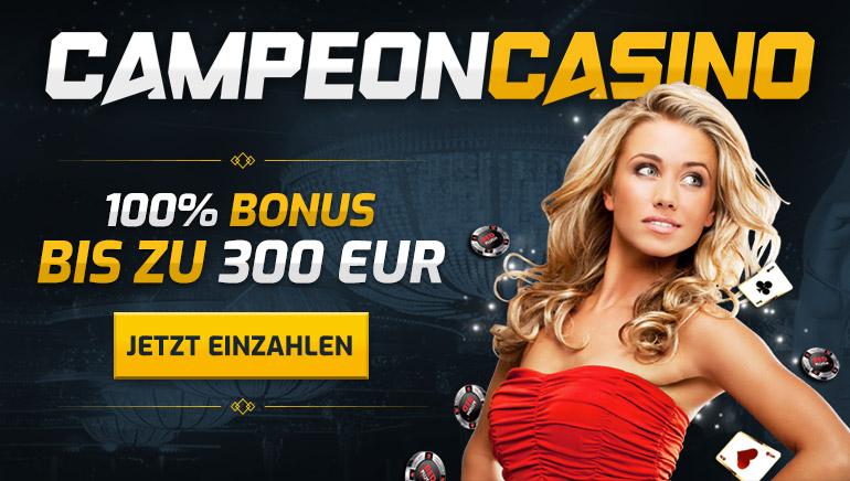 Holen Sie sich 10% Extra zusätzlich zu Ihrem Campeon Casino Willkommens Angebot