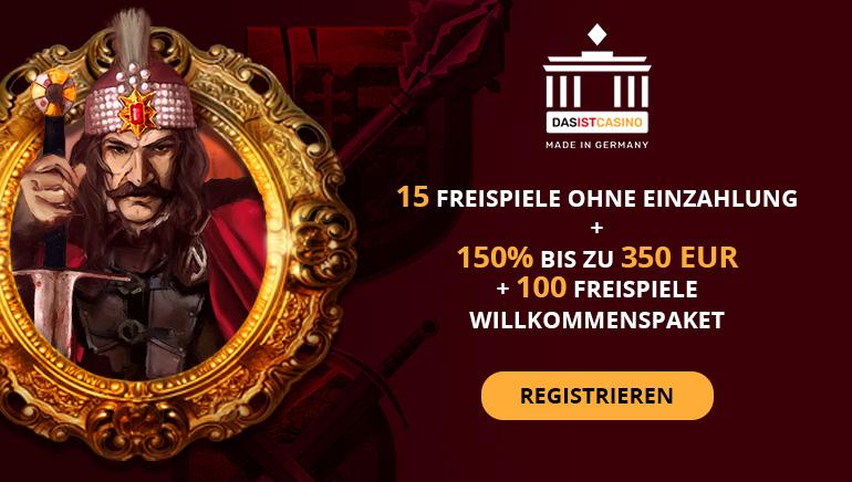 Jetzt bis zu 350 € Bonusgeld und 115 Freispiele im DasIst Casino