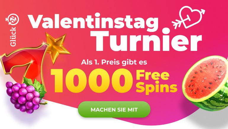 Fühlen Sie die Liebe mit dem Glueck24 Valentinstag-Turnier