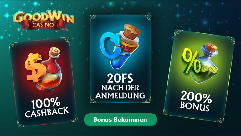 200 % Willkommensbonus und Anspruch auf mehr im GoodWin Casino