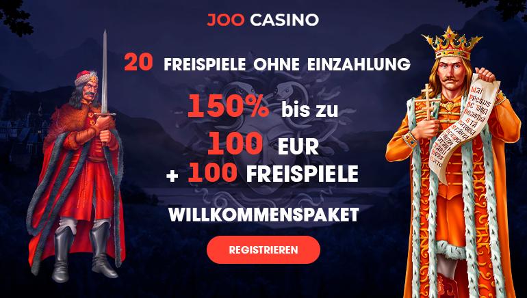 Starten Sie 2020 ganz besonders im Joo Casino mit 150 % von bis zu 100 € und 100 Freispielen