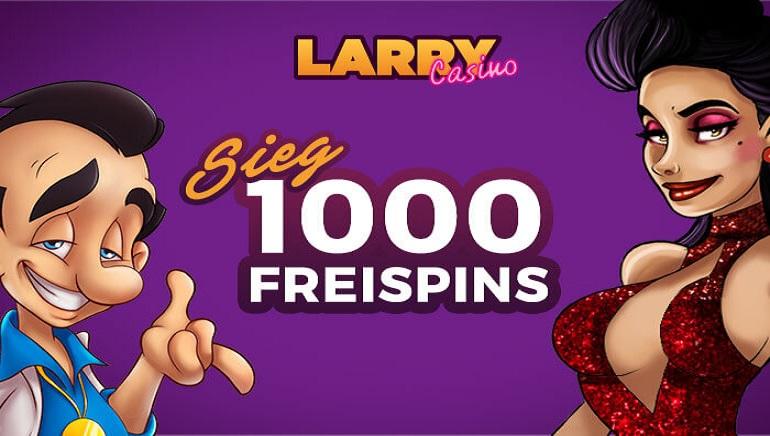 Gewinnen Sie Ihren Anteil von 1.000 Freispielen mit unsere exklusiven Larry Casino Verlosung