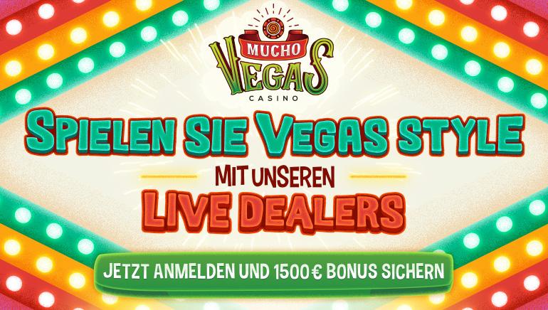 Spielen Sie Live Dealer Vegas Style im Mucho Vegas mit riesigen Multi-Einzahlungsboni