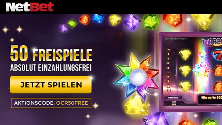 50 Freispiele ohne Einzahlung im NetBet Casino