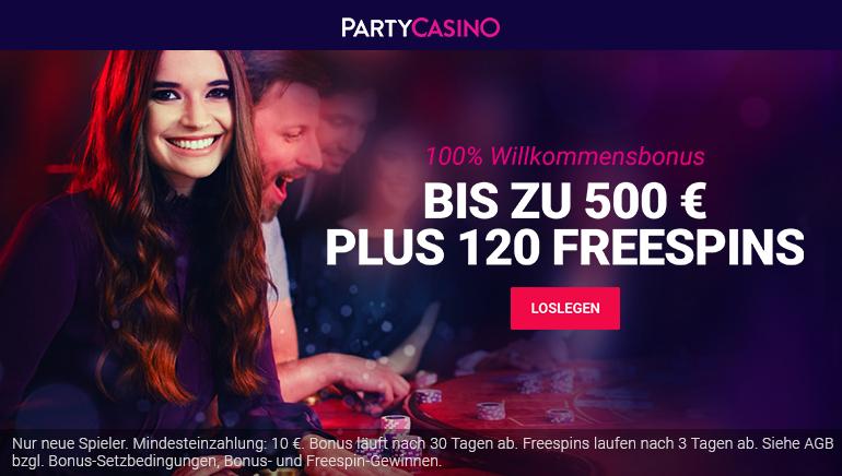 Ein wilder Willkommensbonus im Party Casino