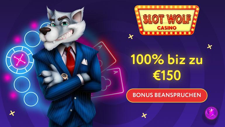 150 € Willkommensbonus für Joining SlotWolf Casino