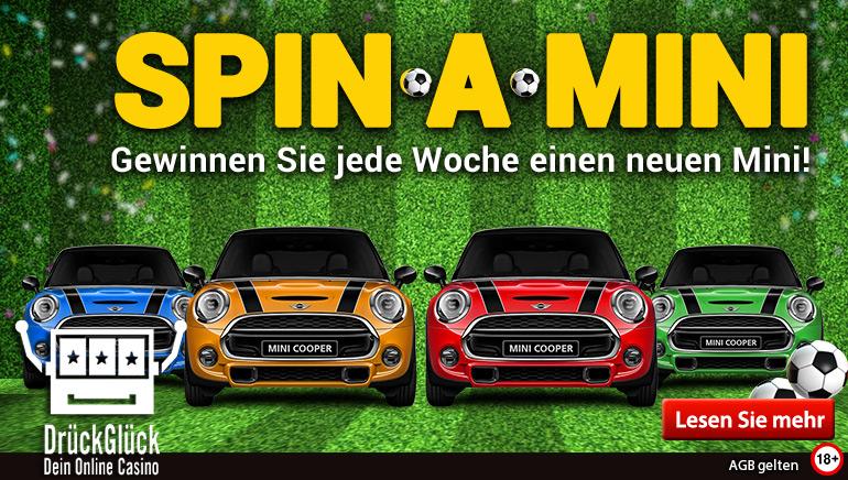 Erleben Sie die Weltmeisterschaft mit DrückGlück & gewinnen Sie einen brandneuen Mini Cooper