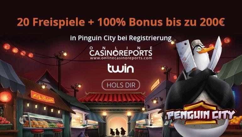 Twin Casino Stapelt die Promos für Online Casino Reports Spieler