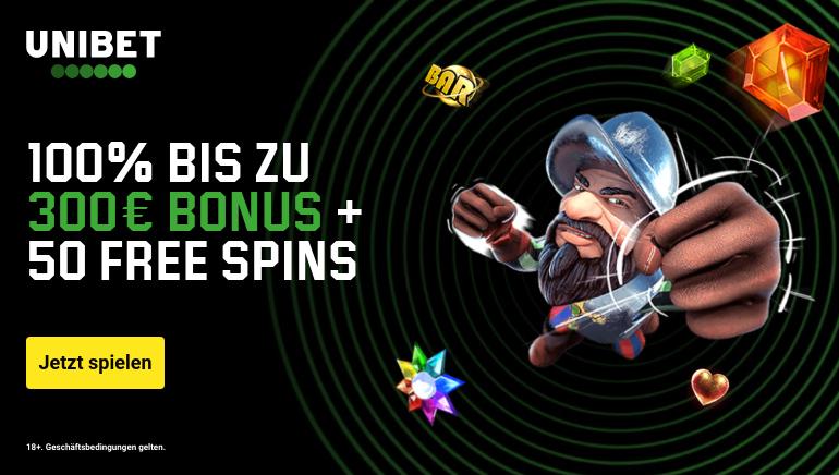 Unibet Casino bietet Spielern ein großzügiges Willkommensbonuspaket