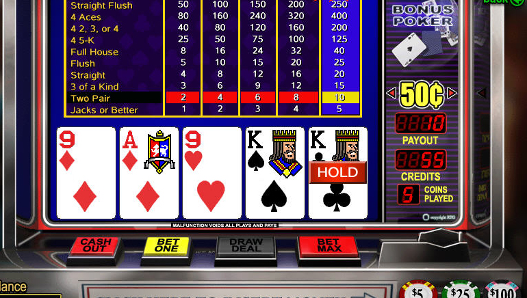 Gratis Online Video Poker