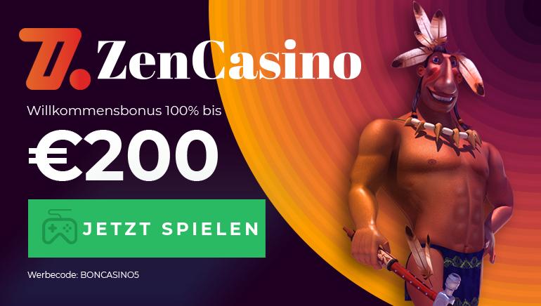 Beginnen SIe Ihr Zen Casino Abenteuer mit einem Willkommensbonus von 100 % bis zu 200 €