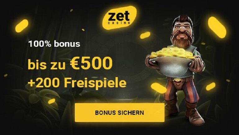 Riesiger Willkommensbonus & 200 Freispiele erwarten Sie im Zet Casino